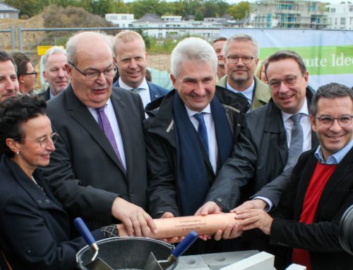 Grundsteinlegung für das Innovationszentrum Hamm